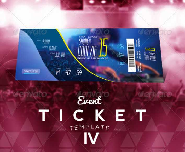Concert Event Ticket Template Photoshop Page 1