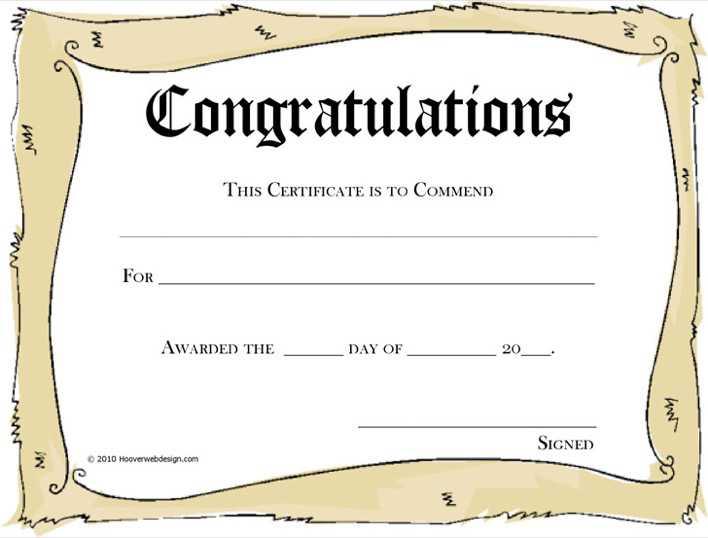 Congratulations Certificate 3 Page 1
