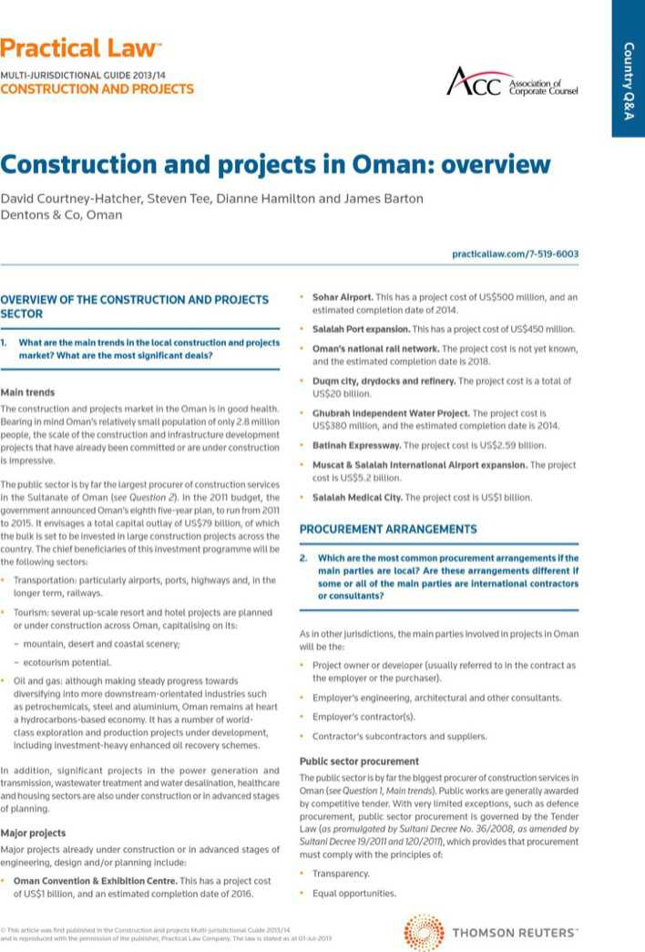 Construction Project Overview Template Page 1