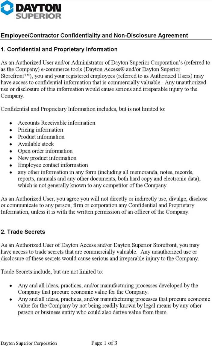 Contractor Confidentiality Agreements | Download Contractor Confidentiality Agreement For Employment