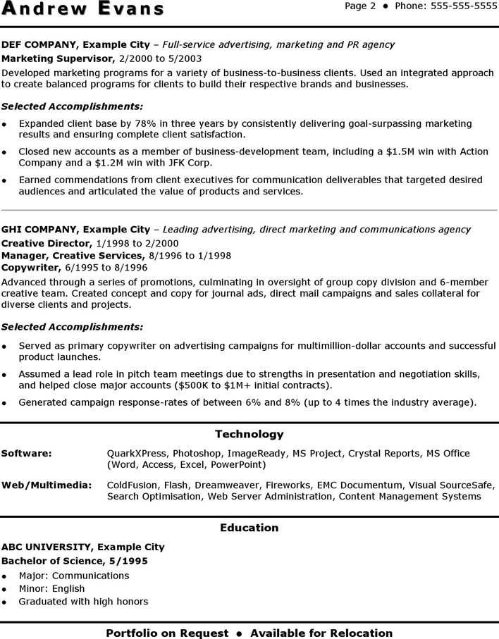 download cv template marketing manager for free
