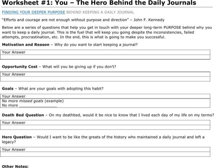 Download Daily Journal Template Microsoft Word For Free