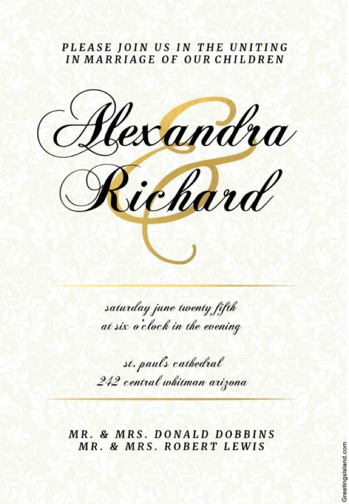 Dappled Distinction Printable Wedding Invitation Template Page 1