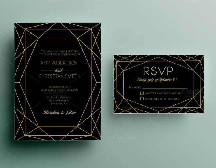 Dark Background Wedding Invitation Template For Download Page 1