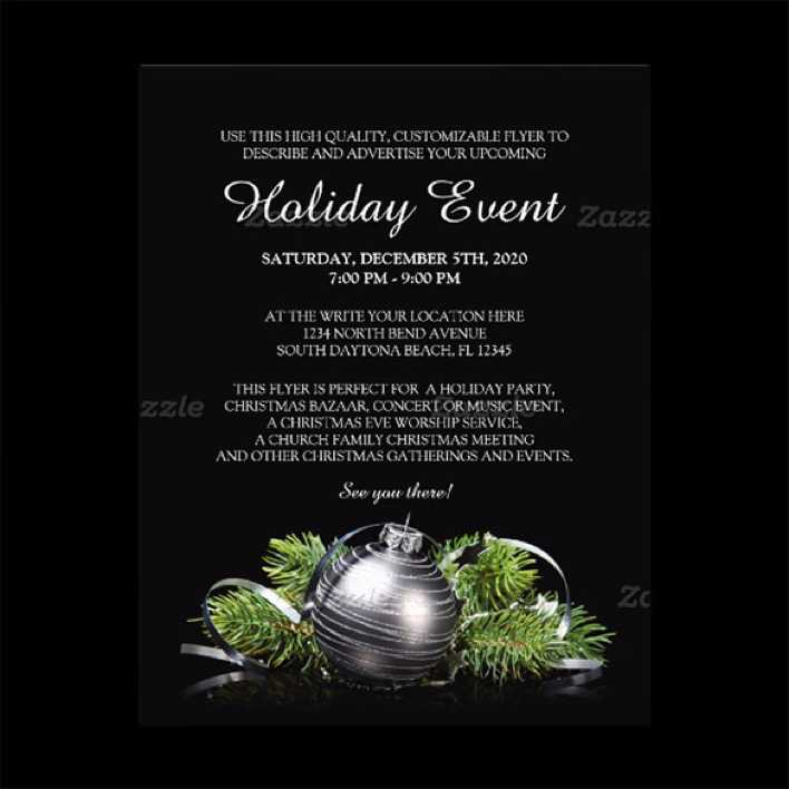 Dark Holiday Event Party Flyer Template Page 1