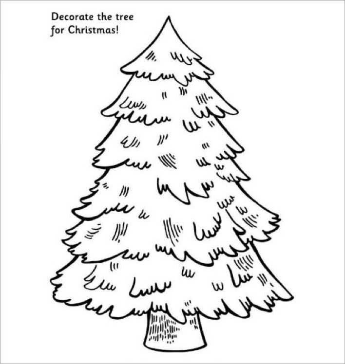 Decorate the Tree for Christmas Free Printable Page 1