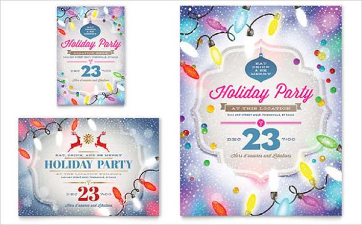 Decorated Holiday Party Flyer Template Page 1