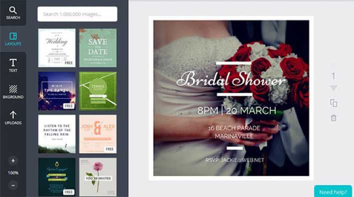 Design Your Own Bridal Shower Invitation Template Page 1
