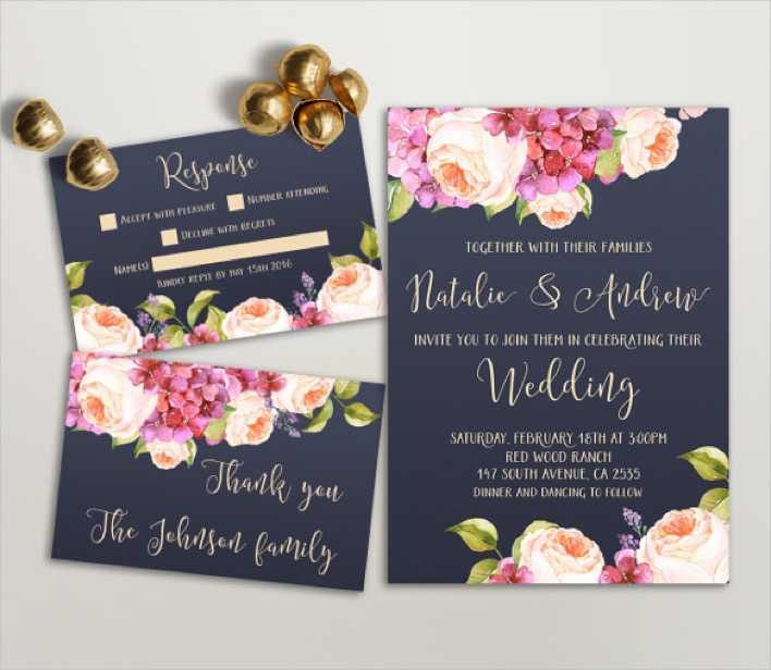 Designed Wedding Invitation Template Download Page 1