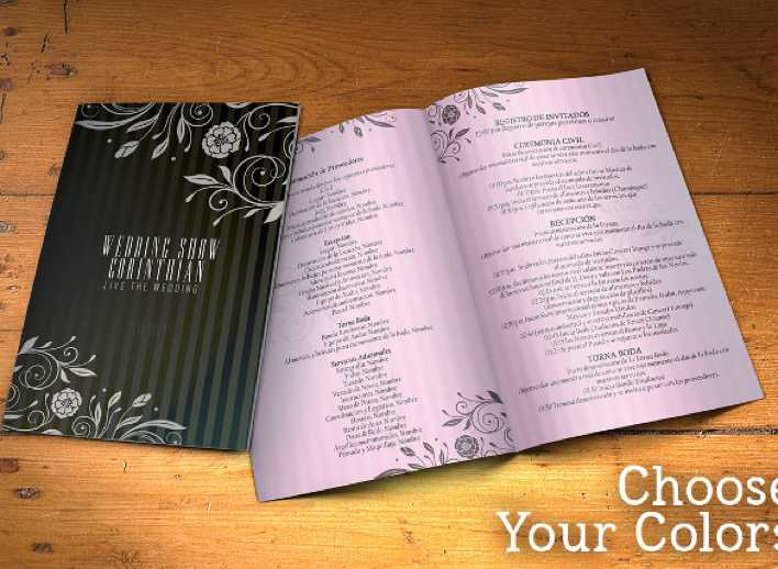 Designed Wedding Program Template Download Page 1