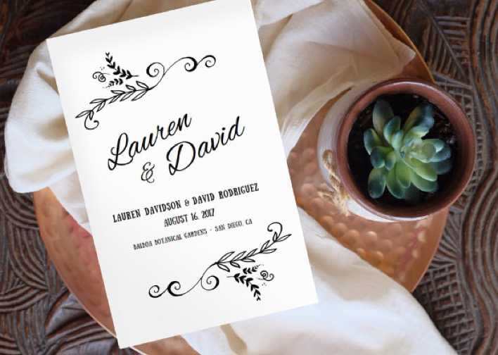 Digital Wedding Program Template For Download Page 1