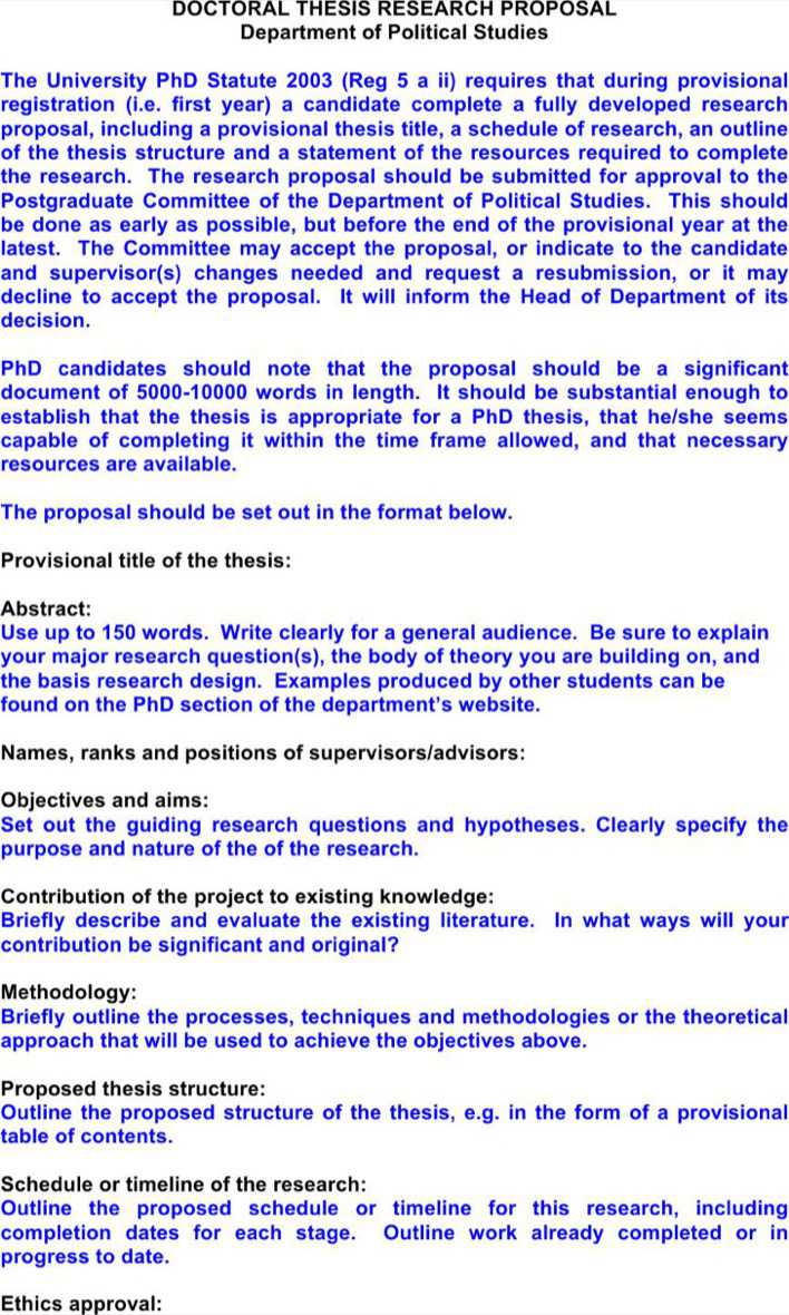 Download Doctoral Thesis Proposal Template For Free Tidytemplates