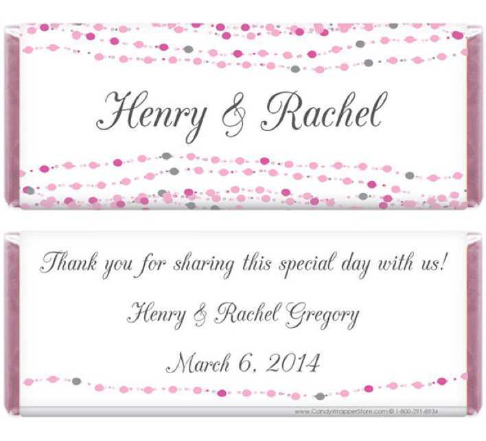 Dots Wedding Candy Bar Wrapper Page 1