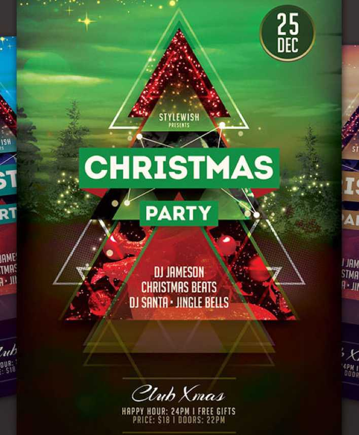Download Colourful Christmas Party Flyer HTML Format Page 1