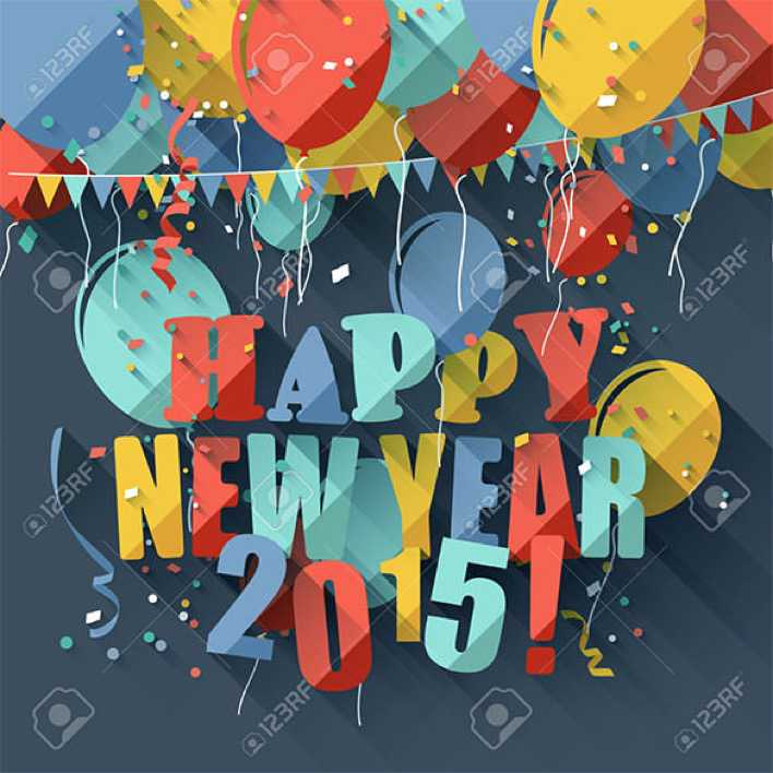 Download Happy New Year Modern Greeting Card Page 1