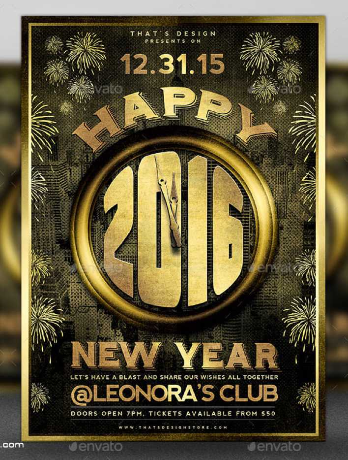 Download New Year Flyer Template V4 Download Page 1