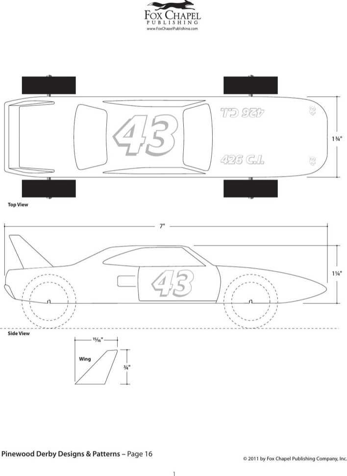 Download Speed Jet Pinewood Derby Template Page 1