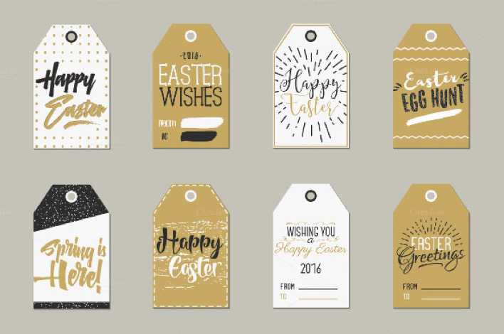 Easter Gift Tags Collection Printable Template Page 1
