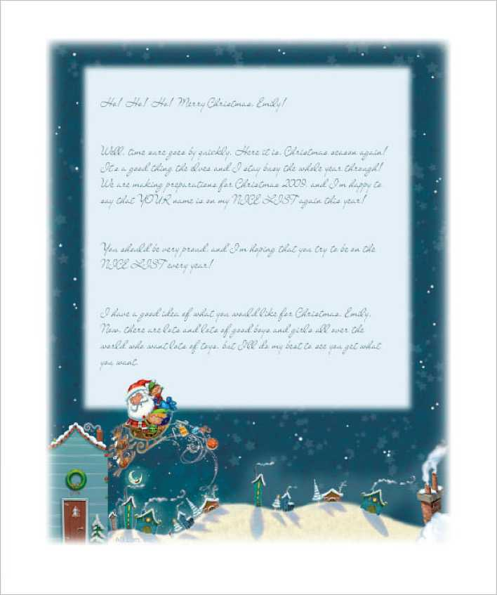 Editable Letter from Santa Christmas Stationery Template Page 1