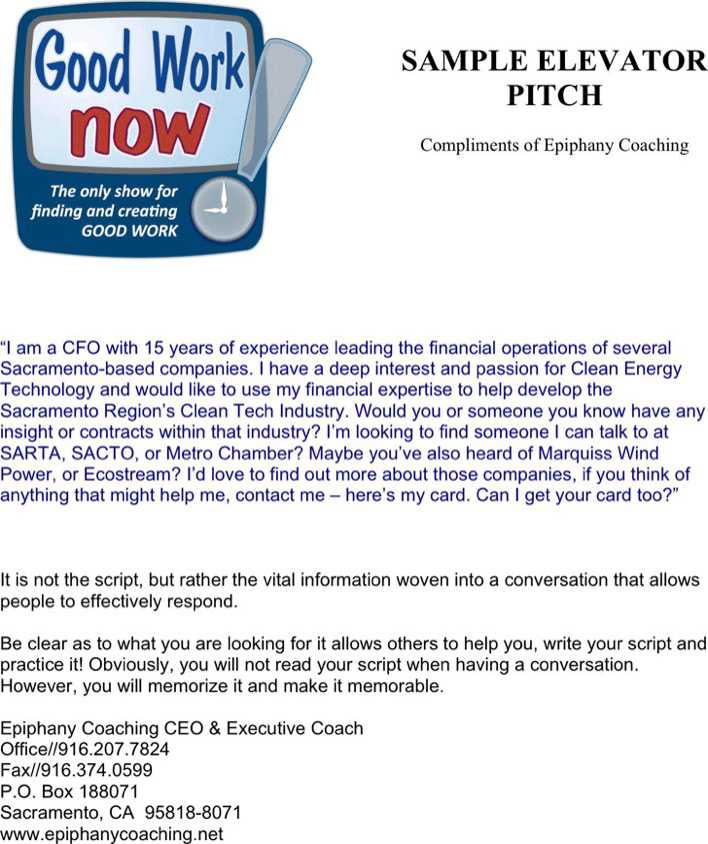 Download Elevator Pitch Examples 1 For Free