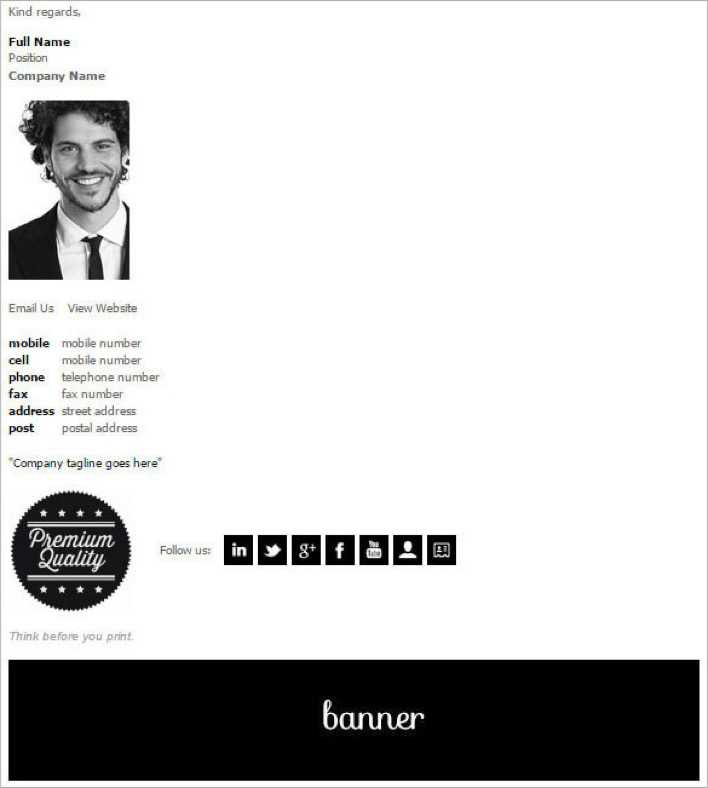 Download Email Signature Design Template For Free Tidytemplates