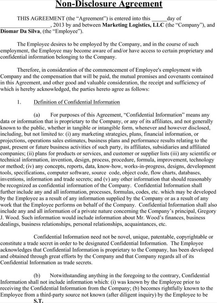 Download Employee Non Disclosure Agreement Template For Free