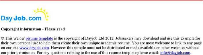 Entry Level Welder Resume Page 2