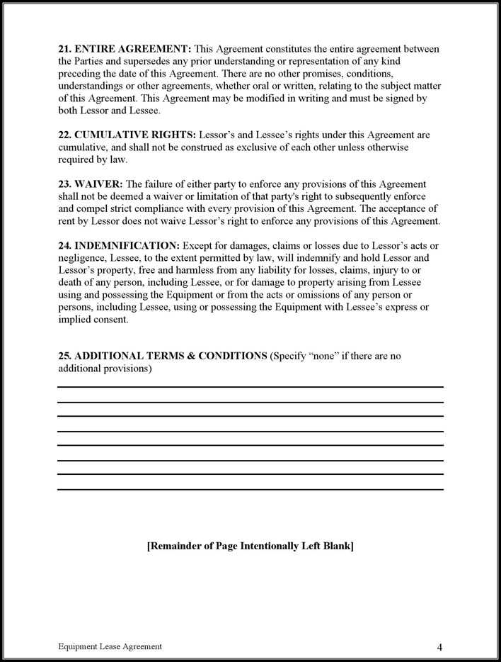 Download Equipment Lease Agreement1 For Free Page 4 Tidytemplates