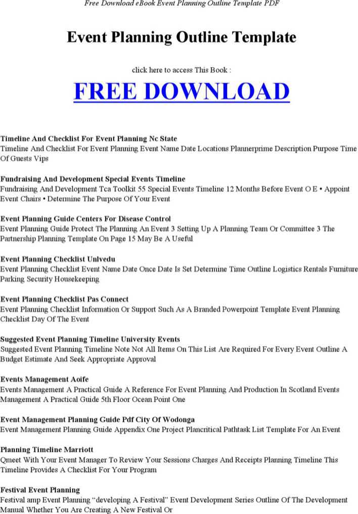download event planning outline template for free tidytemplates