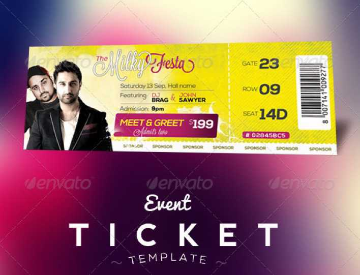 Event Tickets Template for MAC Page 1