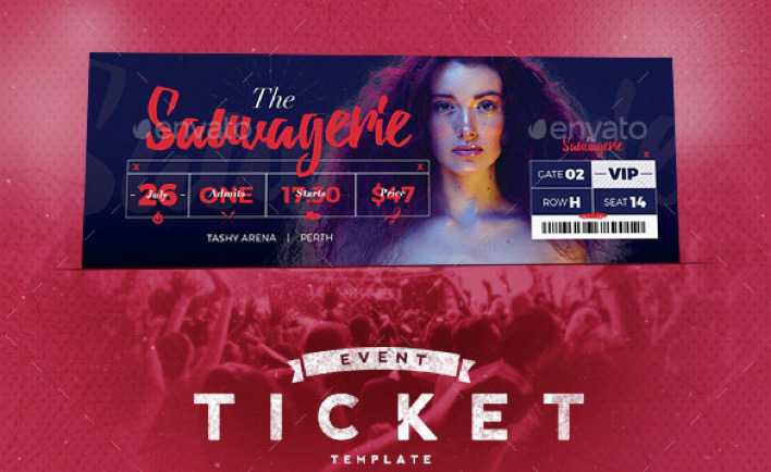 Event Tickets Template Premium PSD Format Download Page 1