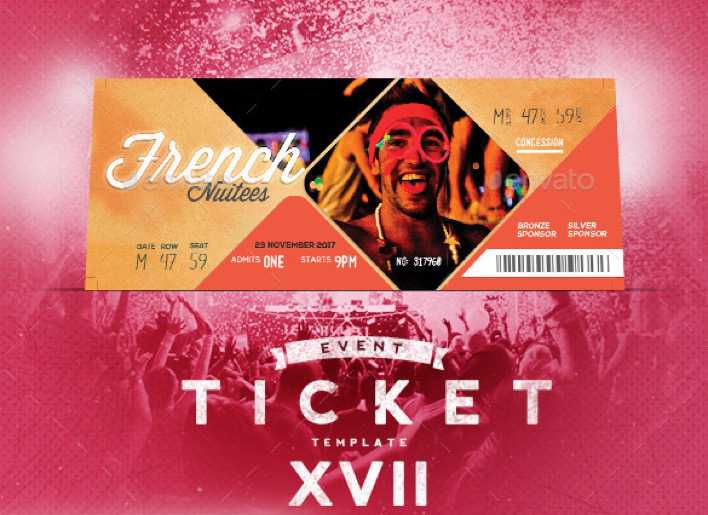 Event Tickets Template XVII PSD Format Design Page 1