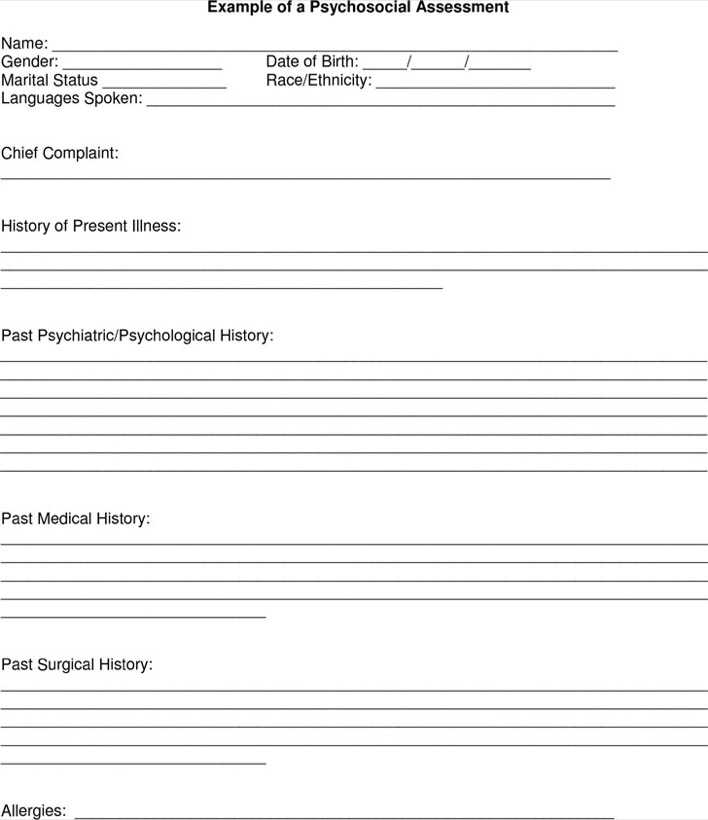 download example of a psychosocial assessment for free