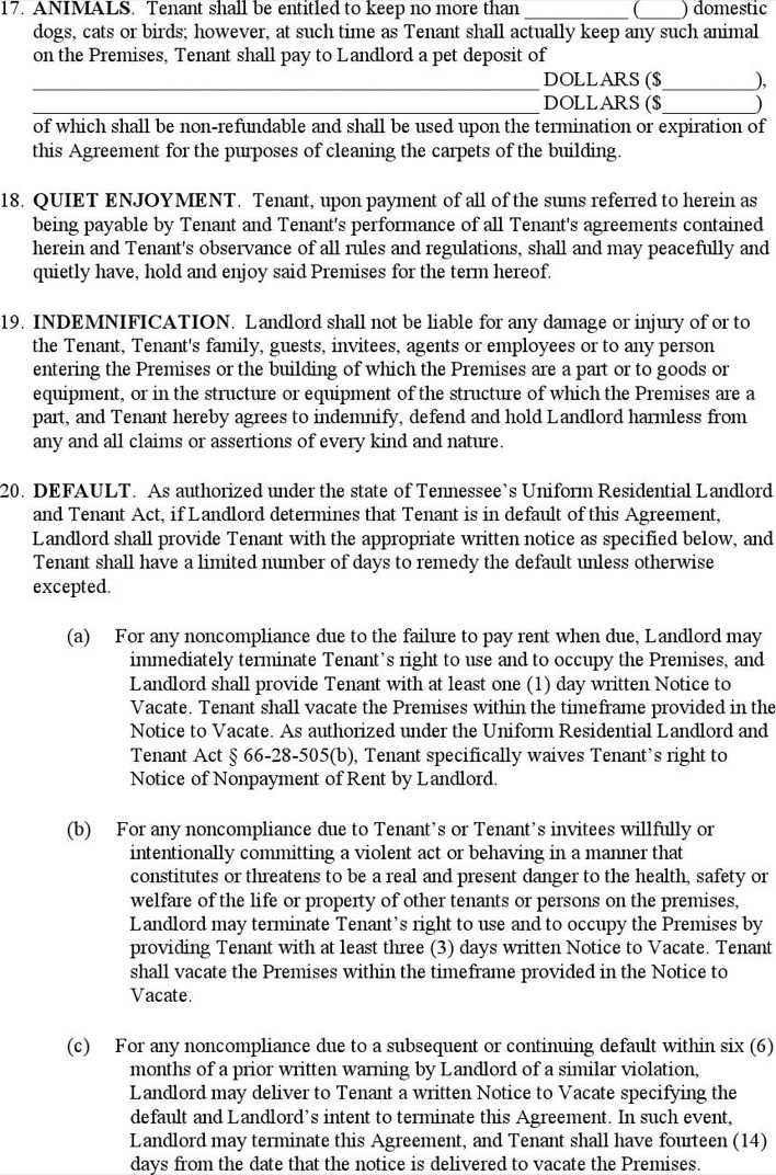 Download Example Of A Residential Lease Agreement For Free Page 5