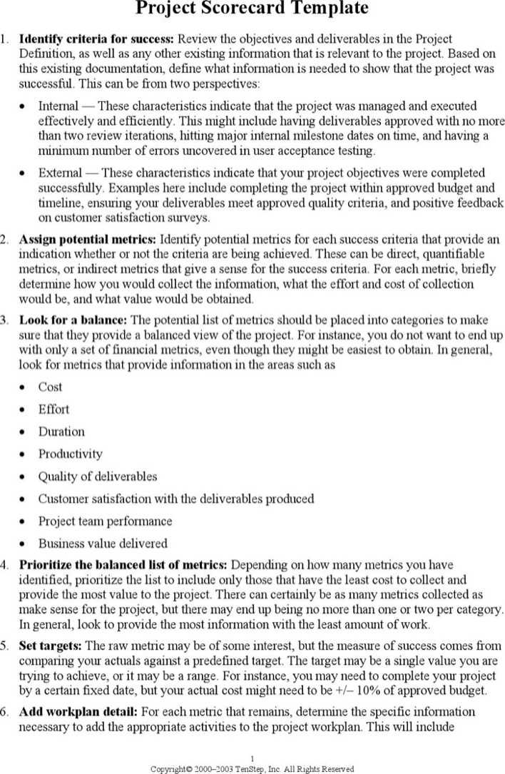 Example Project Budget Template Page 1