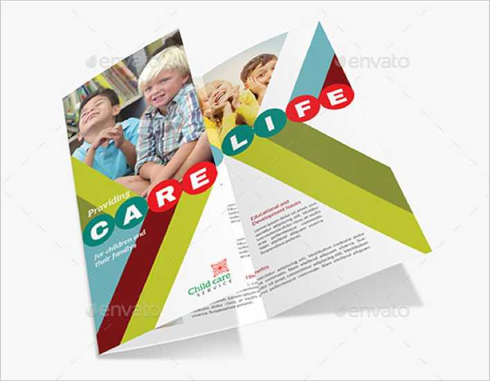 Fabulous Child Care Brochure Template Page 1