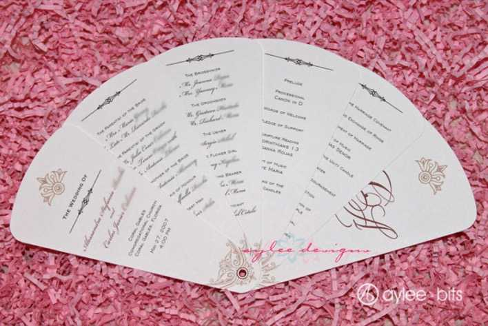 Fan Programs for Your Wedding from Page 1