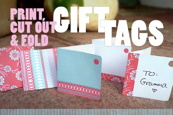 Festive Gift Tag Template Download Page 1