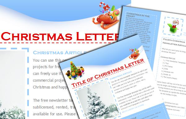 Festive Mail Responsive Christmas Newsletter Page 1