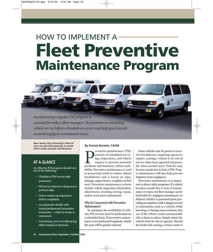 Download Fleet Preventive Maintenance Schedule Template Pdf Format