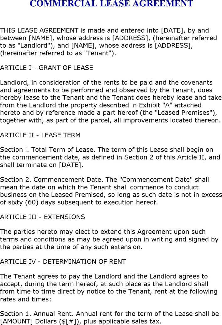 Download Florida Commercial Lease For Free Tidytemplates