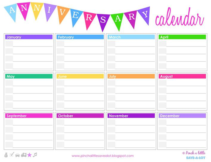 Free Birthday Calendar Template Download Page 1