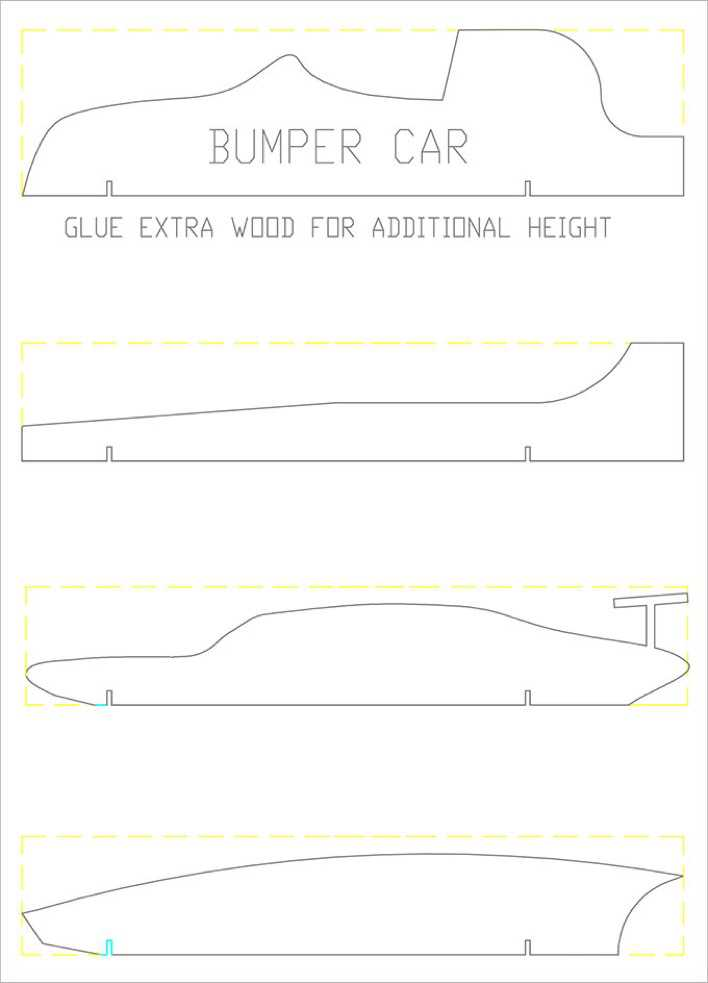 Free Car Pinewood Derby Template Page 1