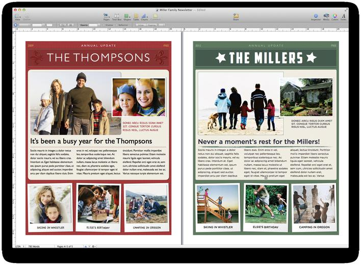 Free Christmas Family Newsletter Template Download Page 1
