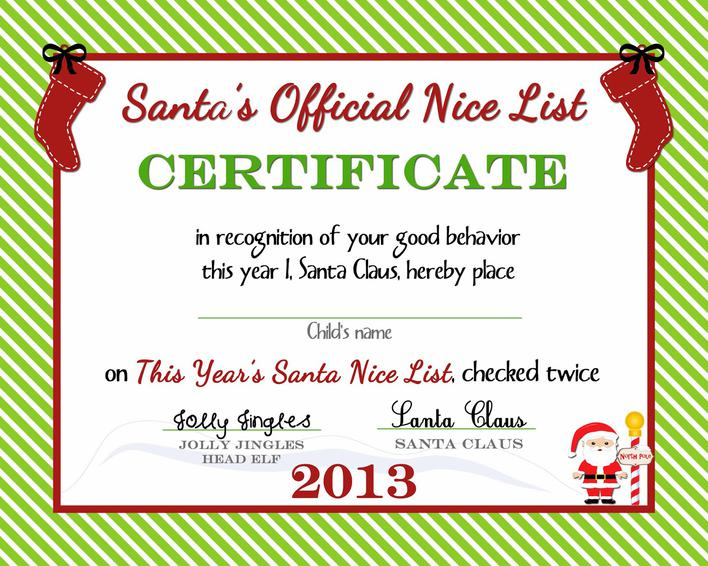 Download Free Christmas Gift Certificate Template Printable For Free