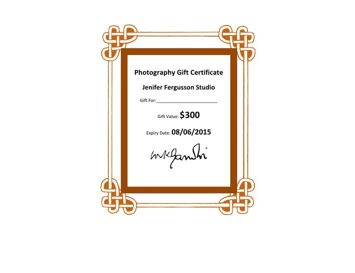 Download Free Download Photography Gift Certificate Template For