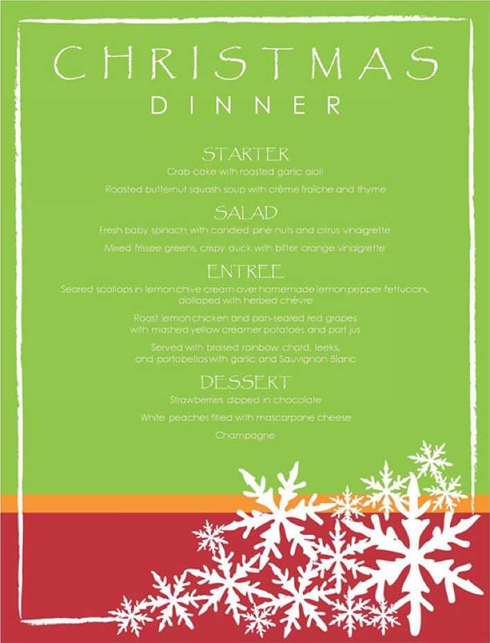 Free Editable Christmas Italian Menu Template Page 1