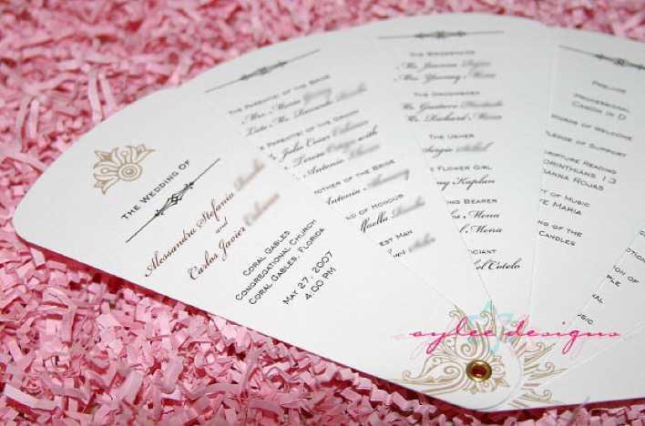 Free Fan Wedding Program Template Download Page 1