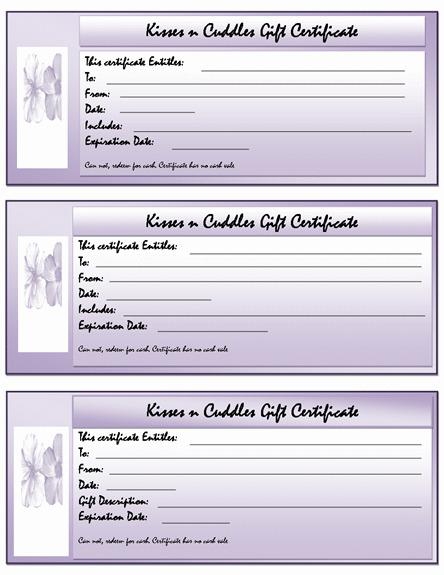Free Gift Voucher Template Page 1