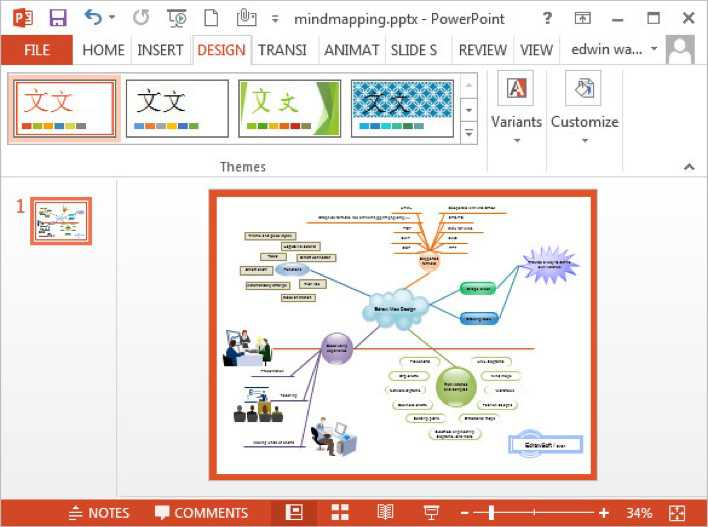 Download Free Mind Map Powerpoint Template For Free Tidytemplates